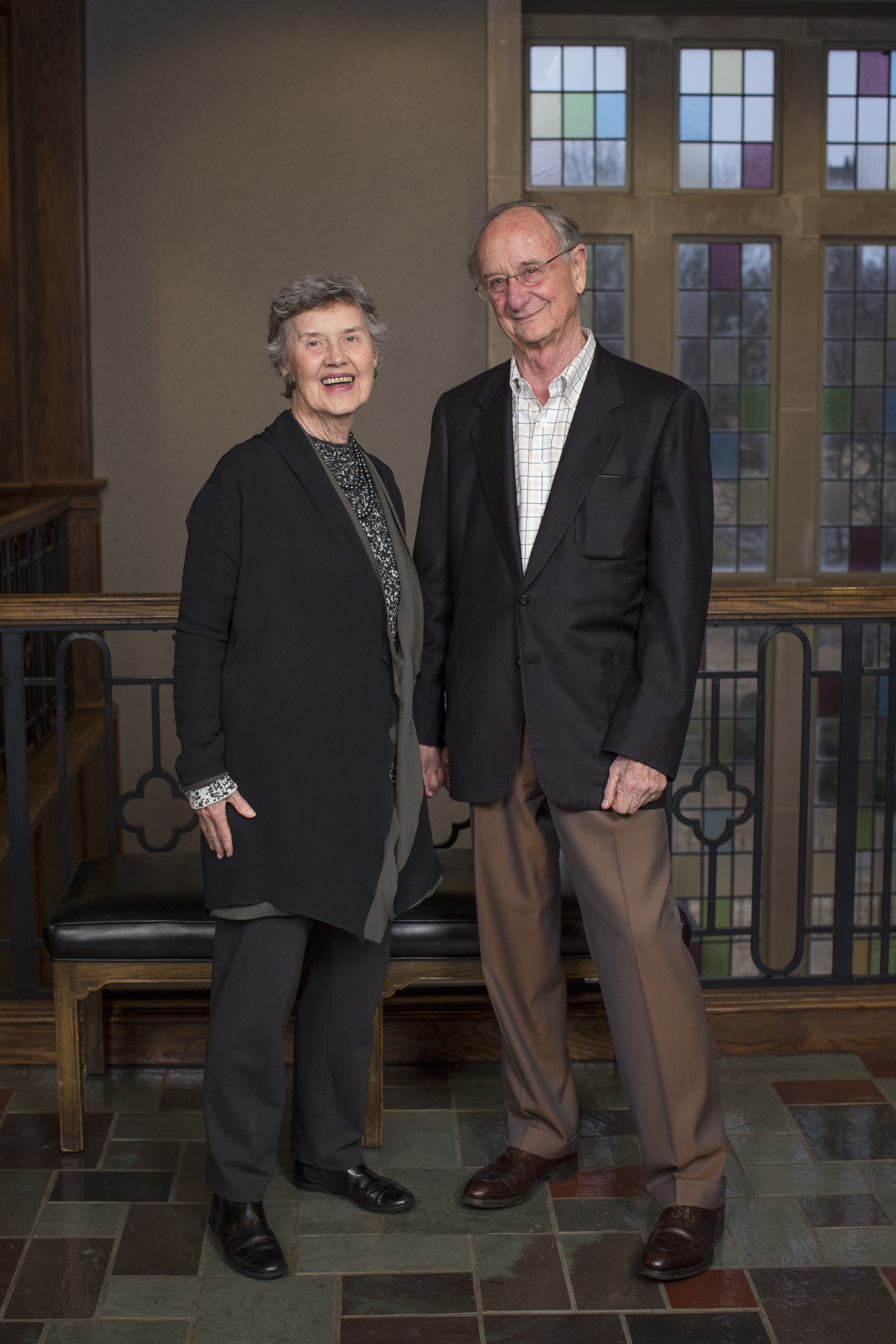 Lynne and Henry Turley stand together, looking at the camera