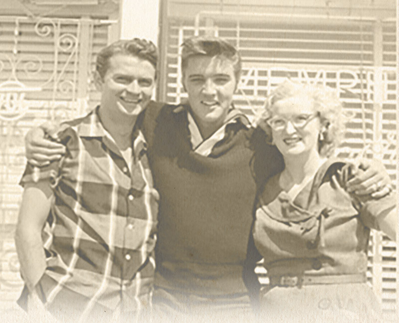 Sam Phillips and Elvis Presley