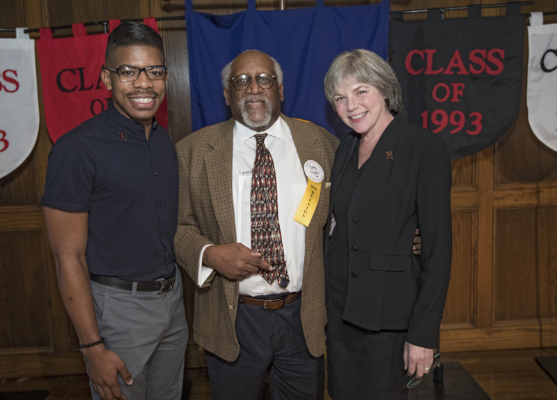 Jamarr McCain, Dr. Coby Smith, President Marjorie Hass