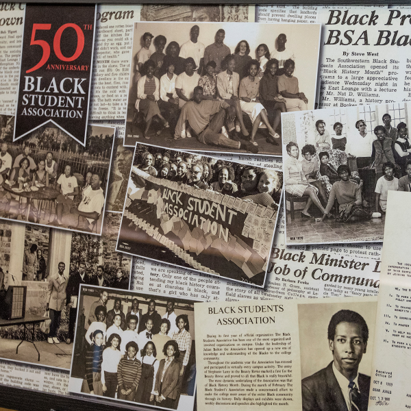 poster celebrating 50th anniversary of the black Student Association