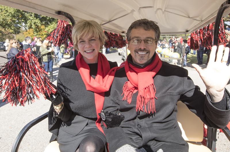 President and Dr. Hass at Homecoming