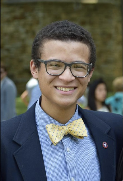 Smiling student in a bowtie