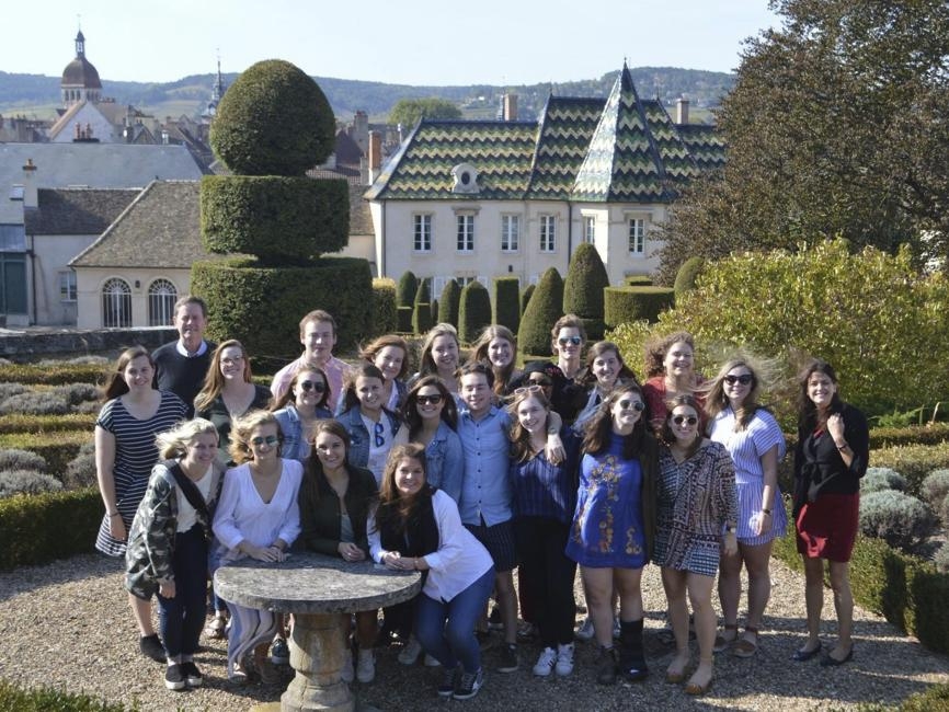 a group of students in France