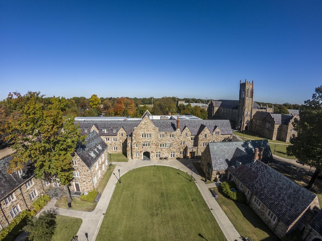 aerial view of Rhodes College campus