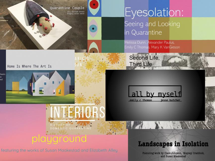a collection of posters for virtual art exhibits